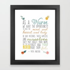 As a Nurse... Framed Art Print