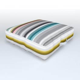 grey and colored stripes Outdoor Floor Cushion