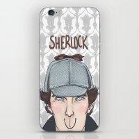 sherlock iPhone & iPod Skins featuring Sherlock by enerjax