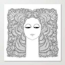 Quiet Lady Canvas Print