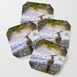 Trout fishing Coaster