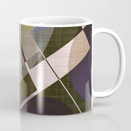 Muted Shapes And Layers - Mid Century Modern Coffee Mug
