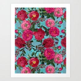Vintage & Shabby Chic - Summer Tropical Garden I Art Print