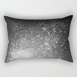 Gray Spray Paint on Black Rectangular Pillow