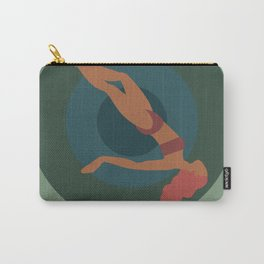"""Retro Vertigo Saul Bass Style Spiral with Woman, Entitled """"Tumble Weed"""" Carry-All Pouch"""