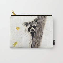Rocky Raccoon - animal watercolor painting Carry-All Pouch