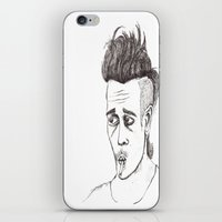 matty healy iPhone & iPod Skins featuring Little Less Matty Healy  by Little Less Lovely