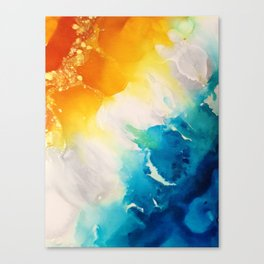 Coastal Bright Summer Beach Abstract Canvas Print
