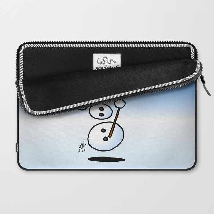 Dancing snowman Laptop Sleeve