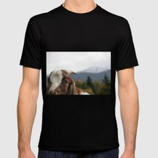 Look who's complaining, funny goat photo Mens Fitted Tee Black MEDIUM