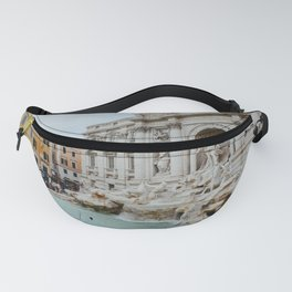 Trevi Fountain | Italian pastel colored houses Fanny Pack