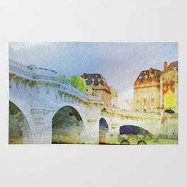 Paris in watercolor Rug