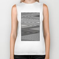 knit Biker Tanks featuring Grey Knit by GPM Arts
