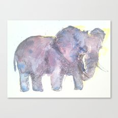 Twilight Elephants Canvas Print