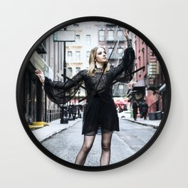 Chinatown Alley Dance Wall Clock