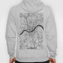 Cincinnati Map Gray Hoody