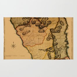 Map Of Dominica 1776 Rug