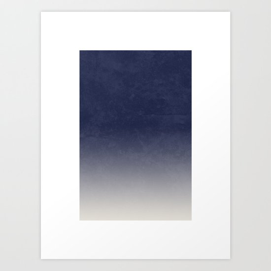 Gradient II - in Midnight Art Print