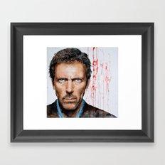 Hugh Laurie, House Framed Art Print