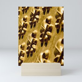 Parisian Gold Fluer De Lis Embossed Design Mini Art Print