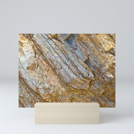 Stunning rock layers Mini Art Print