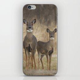 Deer at the cross road iPhone Skin