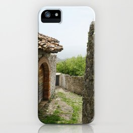 Ancient Stone Houses in Krujë, Albania iPhone Case