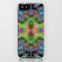 Psychedelic Fractal Kaleidoscope iPhone Case