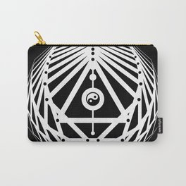 Radiant Abundance (black-white) Carry-All Pouch