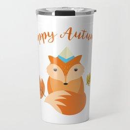 Little Fox Happy Autunm - Fall Begins Travel Mug