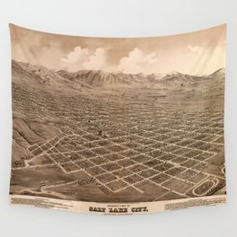 Map Of Salt Lake City 1875 Wall Tapestry