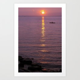 Peaceful sunset at the Bodensee Art Print