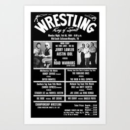 #11-B Memphis Wrestling Window Card Art Print