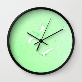 Green Meanie Wall Clock