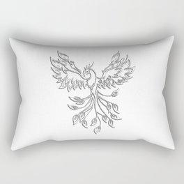 White Phoenix Rectangular Pillow