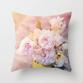 The Last Days of Spring - Old Roses II Throw Pillow
