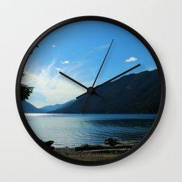Lake Crescent Shore Wall Clock