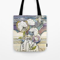night sky Tote Bags featuring Night Sky by Jessica Wilde