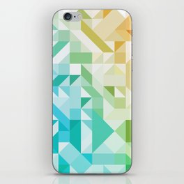 Colorful Geometric Pattern Saturated Rainbow Pattern Design (Red Pink Orange Yellow Green Blue) iPhone Skin