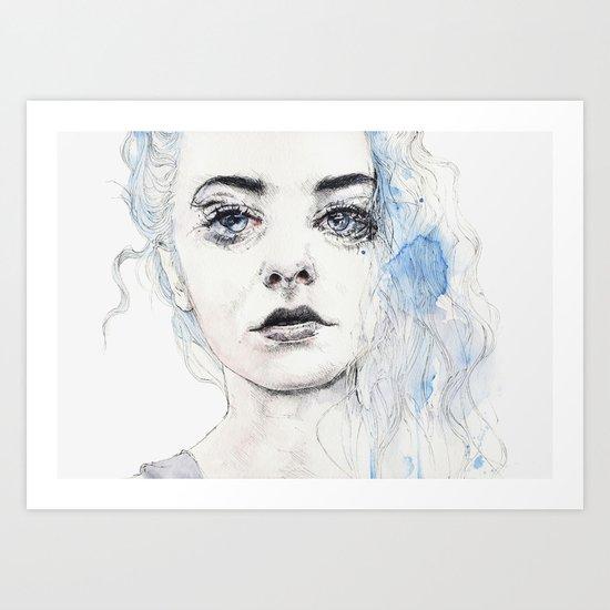 aquamarine freak Art Print