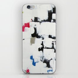 """No. 30 - Print of Original Acrylic Painting on canvas - 16"""" x 20"""" - (White and multi-color) iPhone Skin"""