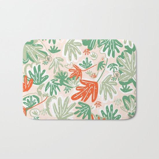 Tropical Abstract Pattern Bath Mat