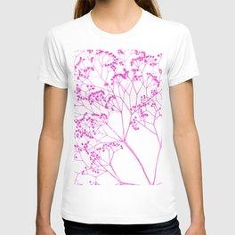 Elegant, boho floral drawing. T-shirt