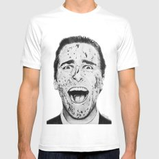 American Psycho Mens Fitted Tee LARGE White