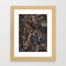 Chocolate Crack Framed Art Print