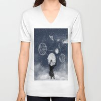 atlas V-neck T-shirts featuring Atlas by Slug Draws