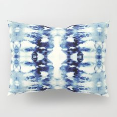 Tie Dye Blues Pillow Sham