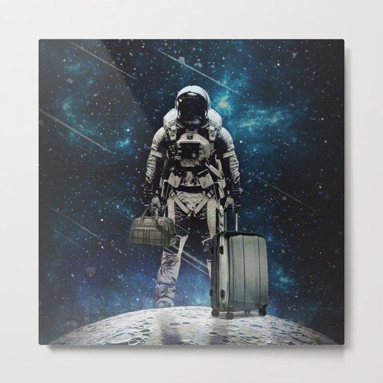 Space Traveller Metal Print