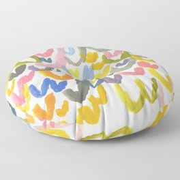 Abstract Letterforms 1 Floor Pillow