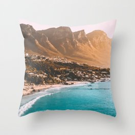 Cape Town, South Africa Travel Artwork Throw Pillow
